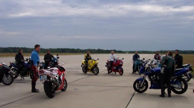 Motorradtrockenübung